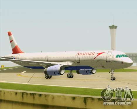 Airbus A321-200 Austrian Airlines para vista lateral GTA San Andreas
