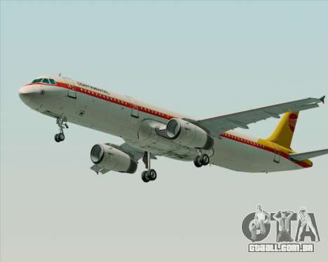 Airbus A321-200 Continental Airlines para GTA San Andreas vista interior