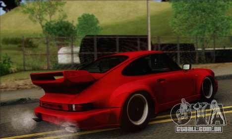 Porsche 930 Turbo Look 1985 Tunable para GTA San Andreas vista traseira