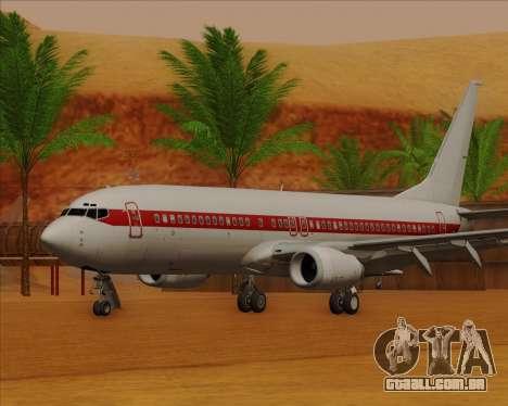 Boeing 737-800 EG&G - Janet para GTA San Andreas esquerda vista