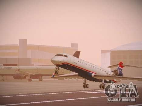 Bombardier CRJ-700 US Airways Express para GTA San Andreas esquerda vista