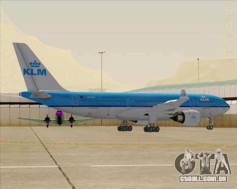 Airbus A330-200 KLM - Royal Dutch Airlines para as rodas de GTA San Andreas
