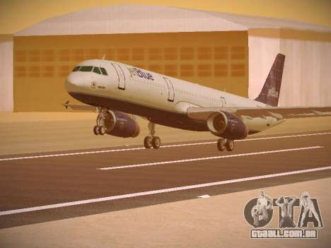 Airbus A321-232 jetBlue Batty Blue para GTA San Andreas esquerda vista