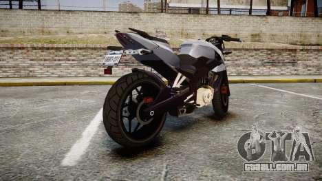 Bajaj Pulsar 200NS 2012 para GTA 4 traseira esquerda vista