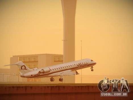 Bombardier CRJ-700 Horizon Air para GTA San Andreas vista traseira