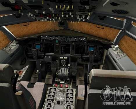 Boeing 737-800 EG&G - Janet para GTA San Andreas interior