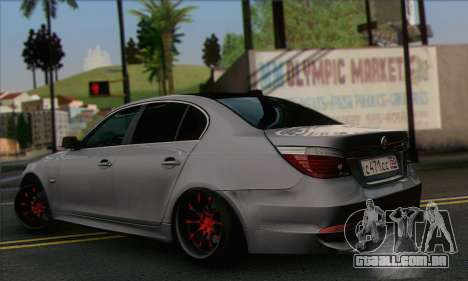 BMW M5 Stanced para GTA San Andreas esquerda vista