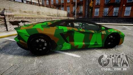 Lamborghini Aventador LP760-4 Camo Edition para GTA 4 esquerda vista