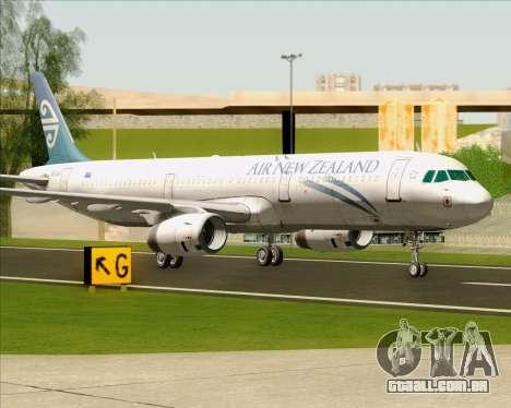 Airbus A321-200 Air New Zealand para GTA San Andreas esquerda vista