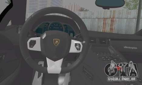 Lamborghini Avendator LP700-4 2012 para GTA San Andreas traseira esquerda vista