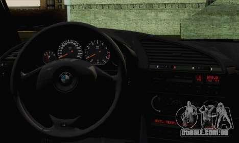 BMW M3 E36 Tuned para GTA San Andreas traseira esquerda vista