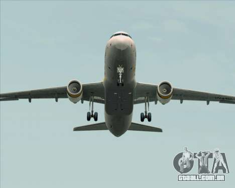 Airbus A320-200 Tigerair Australia para GTA San Andreas vista superior