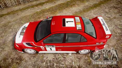 Mitsubishi Lancer Evolution VI Rally Marlboro para GTA 4 vista direita