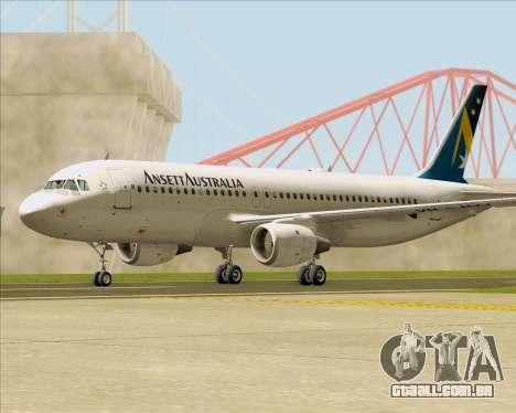 Airbus A320-200 Ansett Australia para GTA San Andreas vista direita
