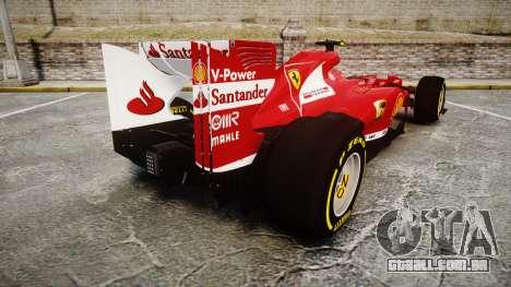 Ferrari F138 v2.0 [RIV] Massa TSD para GTA 4 traseira esquerda vista