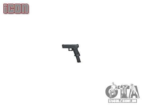Pistola Glock 18 para GTA 4 terceira tela