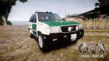 Toyota Land Cruiser Guardia Civil Cops [ELS] para GTA 4