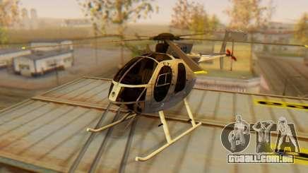 O MD500E helicóptero v3 para GTA San Andreas