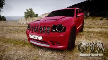 Jeep Grand Cherokee SRT8 license plates para GTA 4