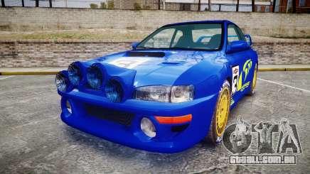 Subaru Impreza WRC 1998 Rally v2.0 Yellow para GTA 4