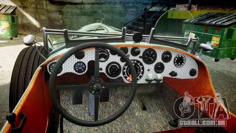 Bentley Blower 4.5 Litre Supercharged [low] para GTA 4 vista de volta