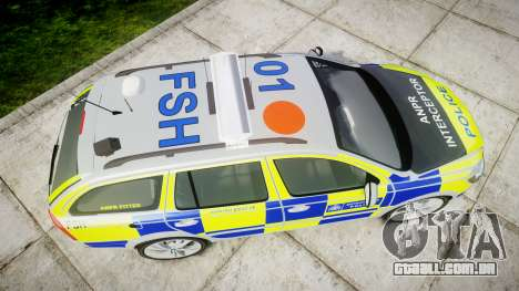 Skoda Octavia vRS Comb Metropolitan Police [ELS] para GTA 4 vista direita