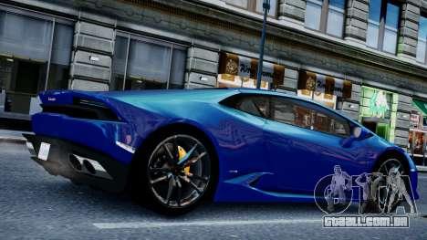 Lamborghini Huracan LP610-4 from Horizon 2 para GTA 4 vista direita