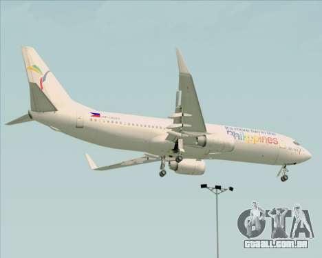 Boeing 737-800 South East Asian Airlines (SEAIR) para GTA San Andreas vista traseira