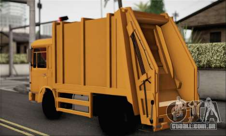 Roman Garbage para GTA San Andreas esquerda vista