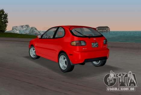 Daewoo Lanos Esporte EUA 2001 para GTA Vice City vista traseira esquerda