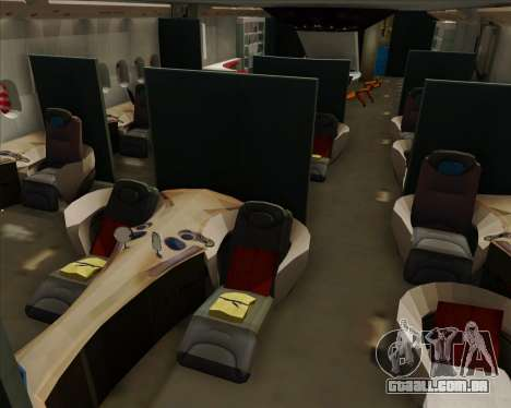 Airbus A380-800 Air China para as rodas de GTA San Andreas