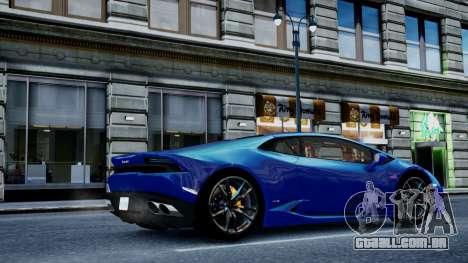 Lamborghini Huracan LP610-4 from Horizon 2 para GTA 4 traseira esquerda vista