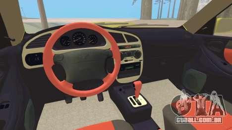 Daewoo Lanos Esporte EUA 2001 para o motor de GTA San Andreas