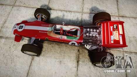 Lotus 49 1967 red para GTA 4 vista direita