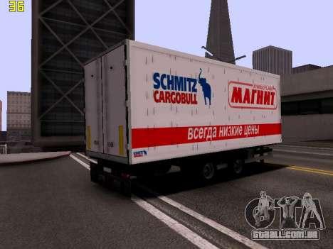 Trailer Magnit para GTA San Andreas traseira esquerda vista
