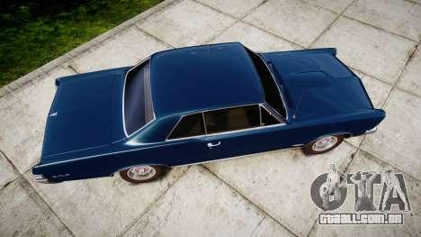 Pontiac GTO 1965 para GTA 4 vista direita