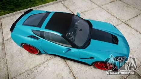 Chevrolet Corvette Z06 2015 TireYA1 para GTA 4 vista direita