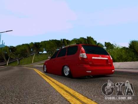 VAZ 2171 para GTA San Andreas traseira esquerda vista