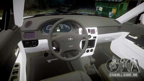 ВАЗ-2170 Instalado Antes do Aquário para GTA 4 vista interior