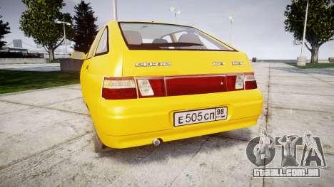 VAZ-2112 para GTA 4 traseira esquerda vista
