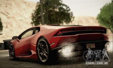 Lamborghini Huracan LP610-4 2015 Rim para GTA San Andreas esquerda vista