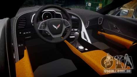 Chevrolet Corvette C7 Stingray 2014 v2.0 TirePi2 para GTA 4 vista interior