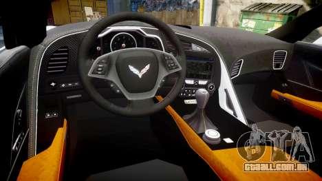 Chevrolet Corvette Z06 2015 TireYA1 para GTA 4 vista interior