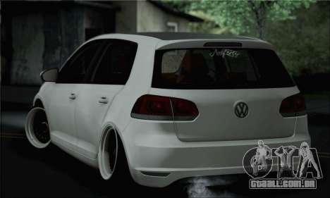 Volkswagen Golf R para GTA San Andreas esquerda vista