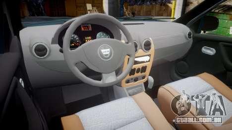 Dacia Duster 2013 para GTA 4 vista de volta