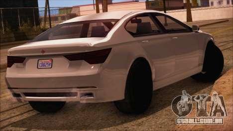 GTA 5 Ubermacht Sport IVF para GTA San Andreas esquerda vista
