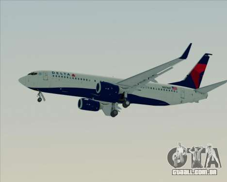 Boeing 737-800 Delta Airlines para as rodas de GTA San Andreas
