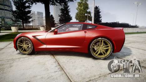 Chevrolet Corvette C7 Stingray 2014 v2.0 TireBFG para GTA 4 esquerda vista