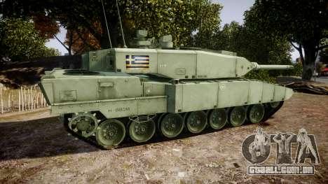 Leopard 2A7 GR Green para GTA 4 esquerda vista