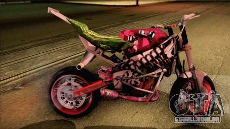 Kawasaki Ninja Zx6R v3 para GTA San Andreas esquerda vista